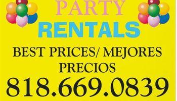 Party Rental Lowest Prices (mejores precios)