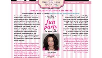 CHILDREN'S DRESS-UP PARTIES!!! CHILDREN'S PRINCESS PARTIES!!!