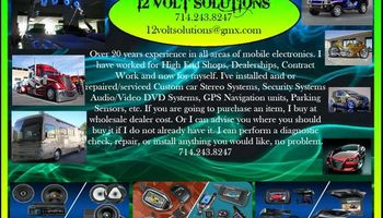 12VoltSolutions. GPS TRACKING*ALARMS*VIDEO*AUDIO SALES INSTALLATIONS