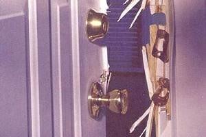 I fix broken doors and door jambs, also patch holes in the walls.