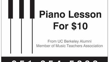 In Home Piano Lessons from a UC Berkeley Alumni
