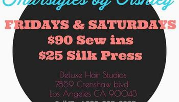 $90 Sew Ins and $25 Silk Press