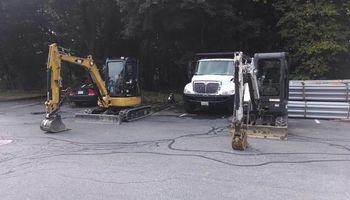 Excavation, concrete demolition, underground utility