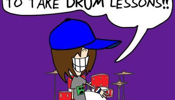 DRUM LESSONS! COOL TEACHER!
