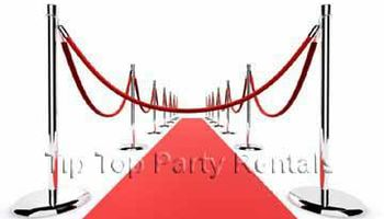 RED CARPET RENTALS * POST & ROPES * STANCHIONS