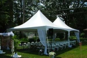 Party tents, tables, chairs, setup and delivery service