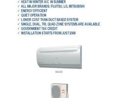 DUCTLESS A/C, SPLIT A/C SYSTEM INSTALLATION