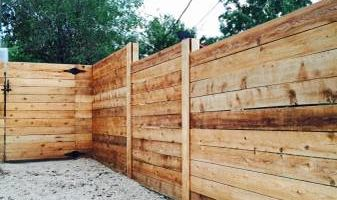 Twin fences & patios