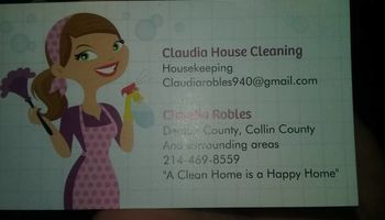 Claudia house cleaning