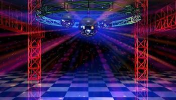 Low Cost DJ speaker, Truss, mirror ball, lighting system rental