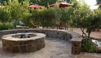 Fire pit / retaining wall/ landscapes/ stonework/ outdoor patio