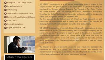 SCHUBERT INVESTIGATIONS INC. VERY AFFORDABLE LICENSED PRIVATE INVESTIGATOR