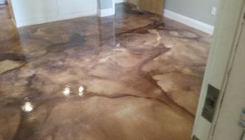 Decorative concrete overlays and concrete stains