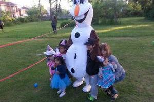 Invite Olaf Party Character to your next Party or Event