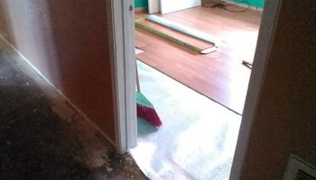 Laminate installation at a 1.00 a sqft hardwood at 2.50sqft