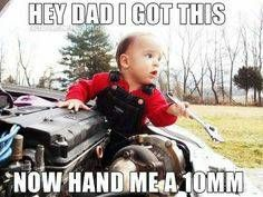 Father And Son Mechanics At your Service