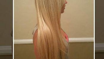 """Weave plus 16"""" hair $225"""