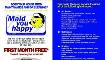 Maid You Happy! Professional Cleaning Services (BONDED!)
