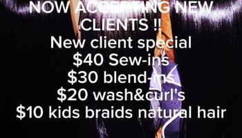 $45 Professional Sew In SPECIAL