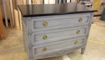 Cabinet refinish and paint