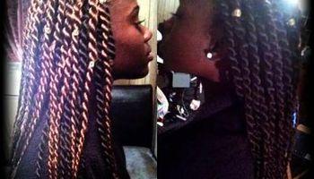 Senegalese twist, box braids