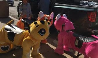 Electrical animals scooter for parties