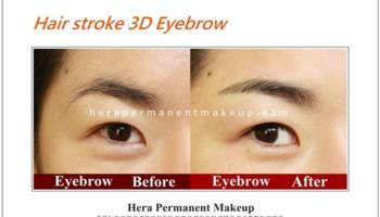 Hera Permanent Makeup. Hair stroke 3D Eyebrow
