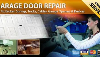 REPAIR OVERHEAD GARAGE DOORS SPRING, OPENER, CABLE, PANELS & PARTS