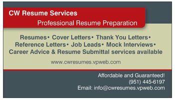 CW Resume Preparation