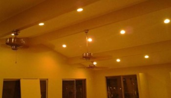 Recess cans and lighting, ceiling fan installs