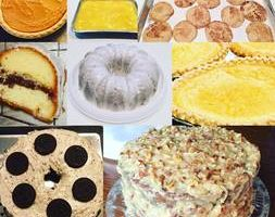 Homemade cakes and pies from scratch