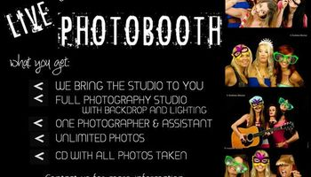 LEt us take your party pictures!!! Live photobooth with props