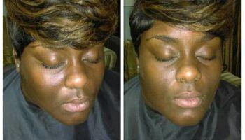 Hair By CosMob <3 w/comp eyebrow enhancement.