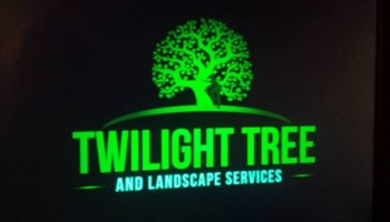 Insured All American Landscapers - Twilight tree and landscape