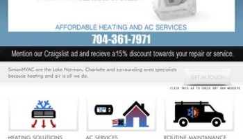 Heating and cooling service and repair, one call takes care of it...