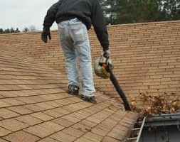 Gutter cleaning by: The Gutter Genie LLC