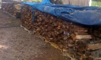 Fire wood sale - seasoned good and dry for fast burning - $80.00 for a f150 load!