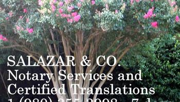 SALAZAR & CO. CHARLOTTE MOBILE NOTARY PUBLIC - 7 Days