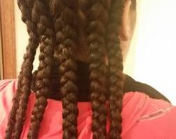 BRAIDS, WEAVES, BOX BRAIDS, SINGLES, CORNROLLS $45 & up