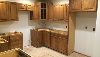 CABINET INSTALL. KITCHEN/BATH CABINETS AND COUNTER TOPS!