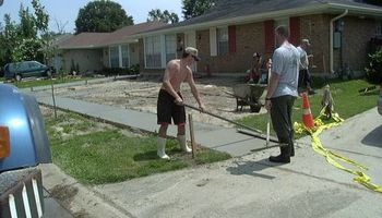Concrete work (get rid of the mud)