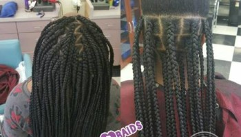 Large Jumbo Box Braids $120