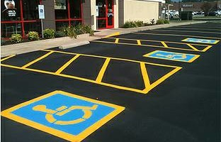 Parking Lot Striping-Full Pavement & Concrete Refinish