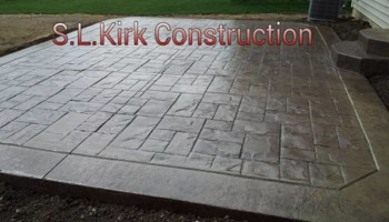 Decorative Stamped Concrete. S.L.Kirk construction