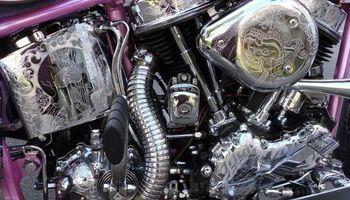 Custom Harley motorcycle work