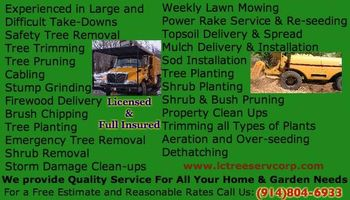 LC Tree Service Corp. TREE & LANDSCAPING SERVICE
