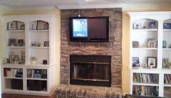 Home Theater system installation - TV on-wall like picture, hide wires