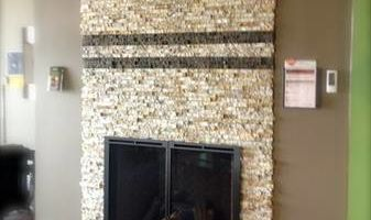 Installation of Recycled Granite of Kentucky Split Stone Veneers