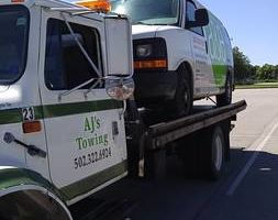 AJs professional flatbed towing service