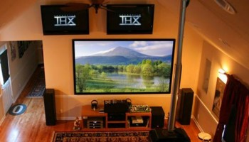 Wall Mounting TV and Home Theater